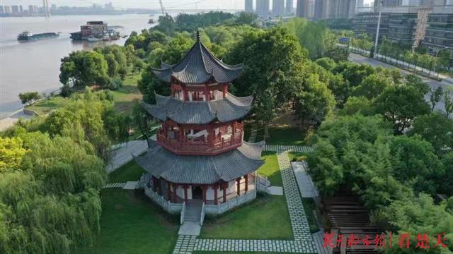 汉阳江滩登楼观江新去处:古色古香观江楼开放试运行