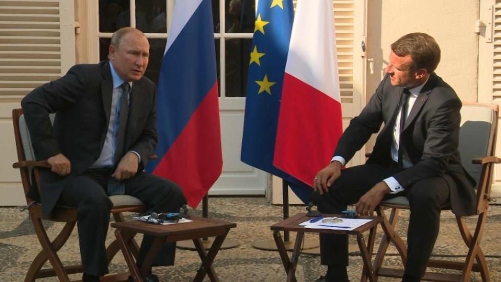 法国总统马克龙与俄罗斯总统普京就当下危机展开会谈