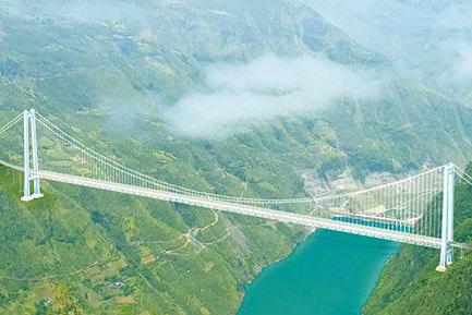 云南金安金沙江大桥:凌空架高索,天堑飞彩虹