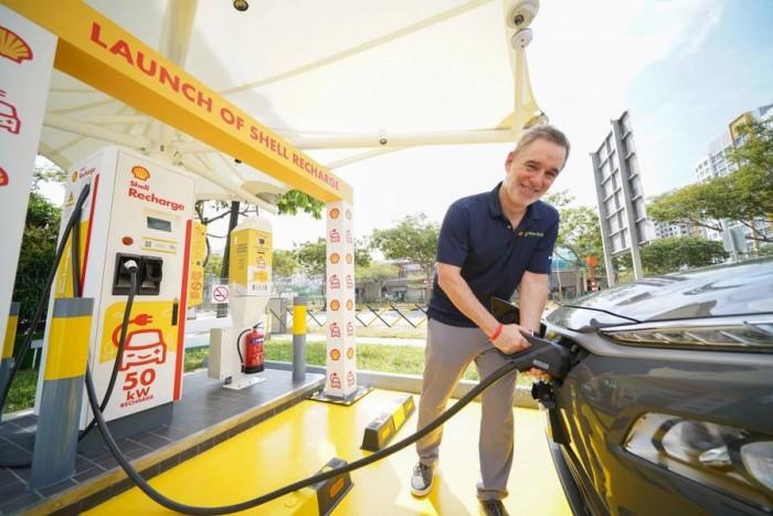 石油公司壳牌在新加坡推出电动汽车充电服务