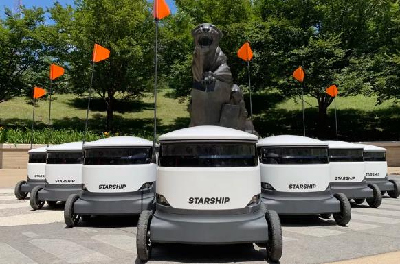 Starship科技在美大学校园部署自动送货机器人
