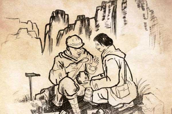 高校教师钢笔画展现地质人砥砺奋进精神面貌