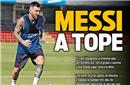 梅西伤愈赛季首次合练 对手慌了:别急着复出!