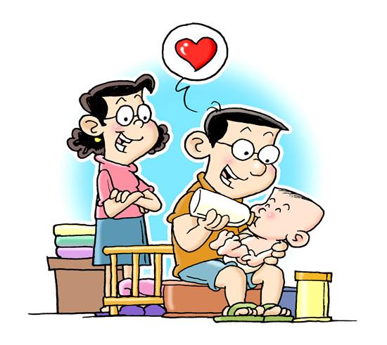 全职奶爸 受访已婚男性比女性接受度更高
