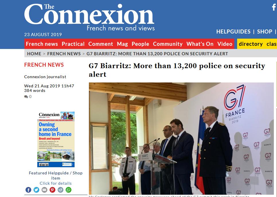 """为反G7""""黄马甲""""又""""回来""""了,法国拟出动1.3万名警察:任何骚乱都不能容忍"""