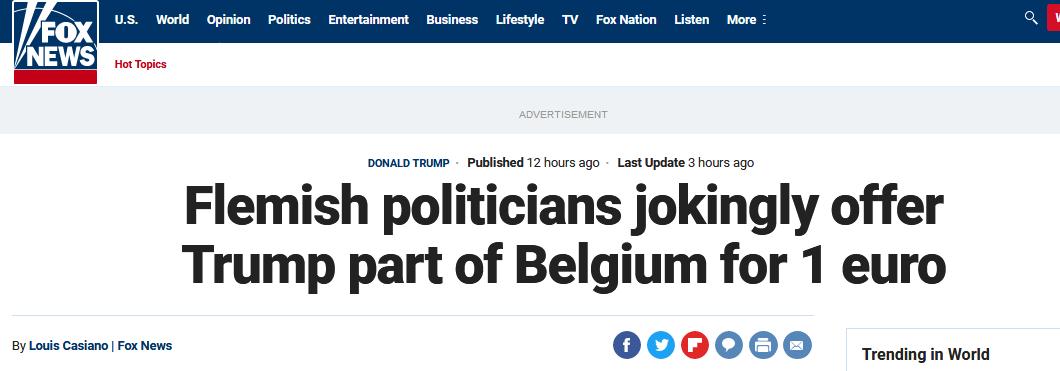 """特朗普买格陵兰""""碰壁"""",比利时人""""揽客"""":我们这块地,只要1欧元"""