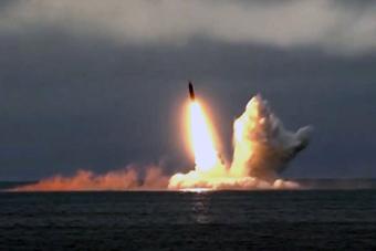 俄军北风之神级核潜艇再次试射布拉瓦洲际导弹