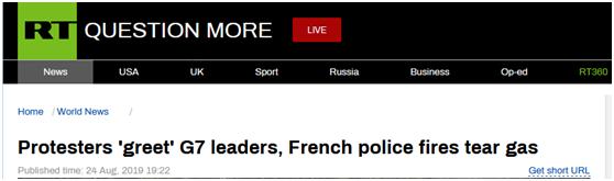 G7峰会期间法国数千人抗议,警方使用催泪弹高压水枪