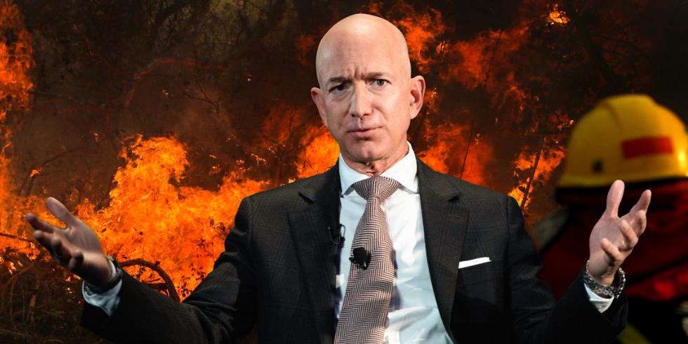 """""""地球之肺""""连烧3周 网友喊话亚马逊CEO贝佐斯去救火"""