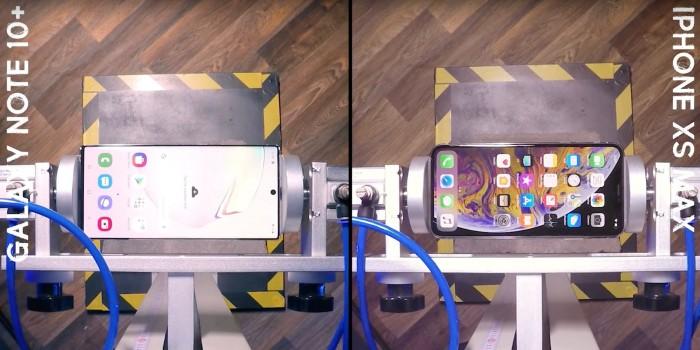 三星Galaxy Note 10+跌落测试 比iPhone XS抗摔
