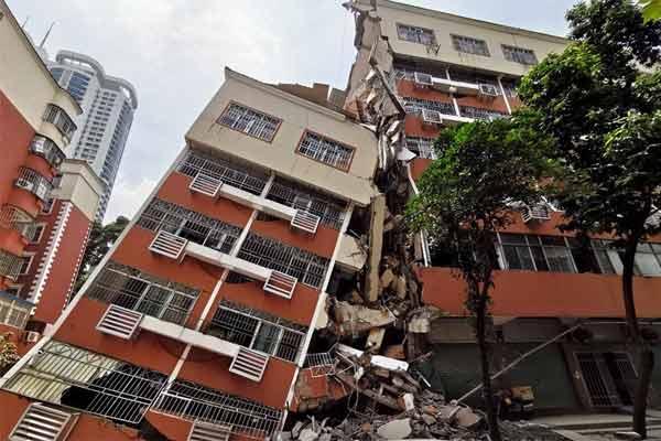 深圳罗湖一栋居民楼发生坍塌事故