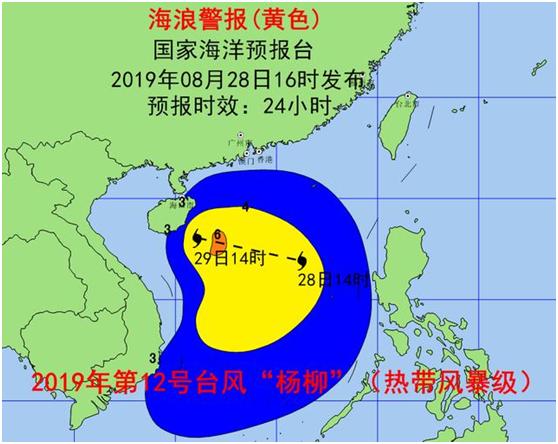 """台风""""杨柳""""逐渐靠近海南岛 国家海洋预报台发布海浪黄色和风暴潮蓝色警报"""