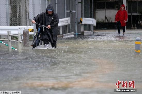数十年一遇!日本九州暴雨致3人死 逾90万人疏散