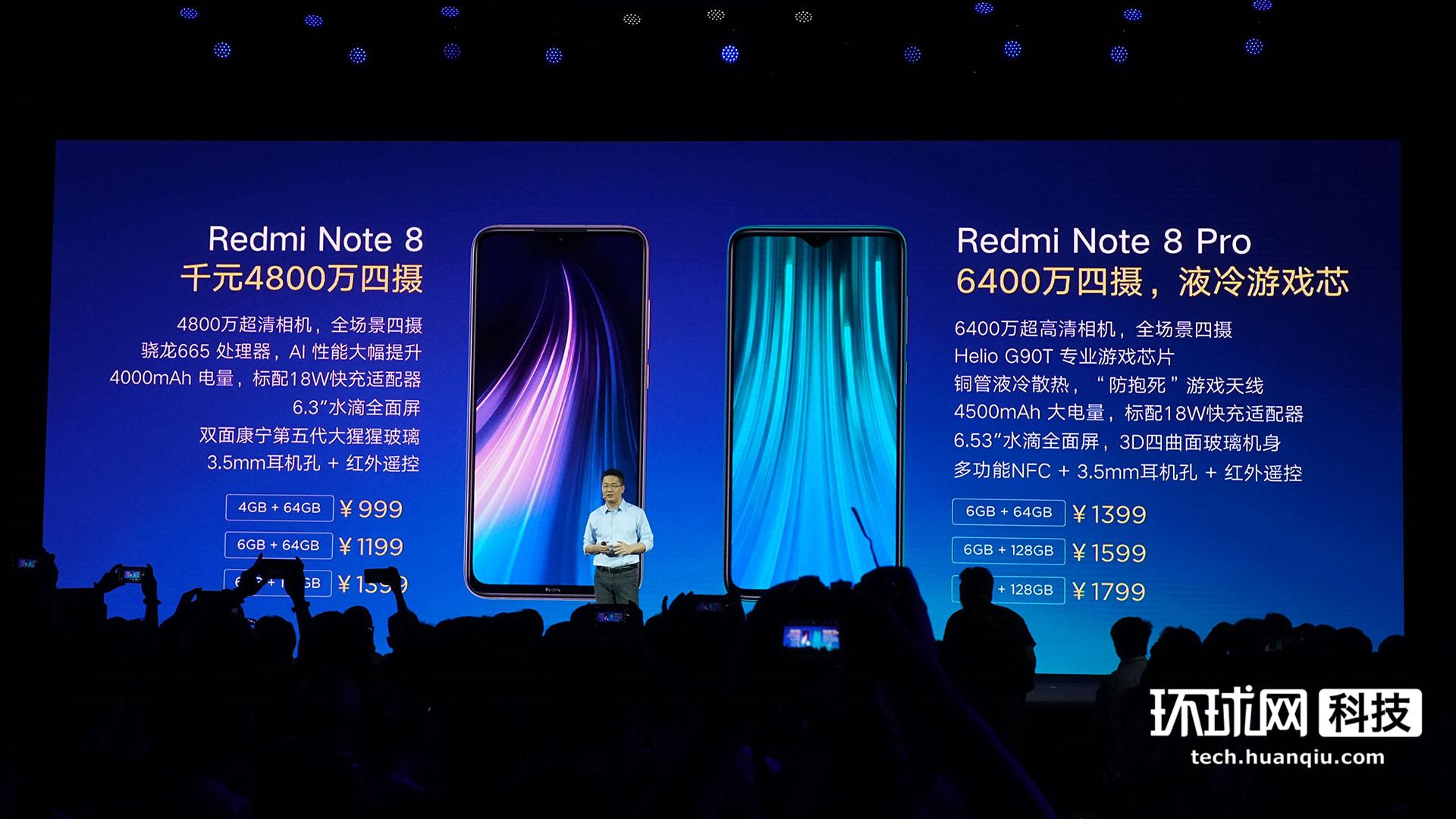 Redmi Note8系列发布:普及四摄、NFC、6400万像素