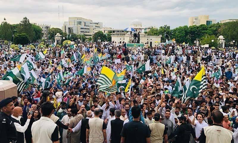 """巴基斯坦总理设置""""克什米尔时间"""" 民众街头声援克什米尔"""