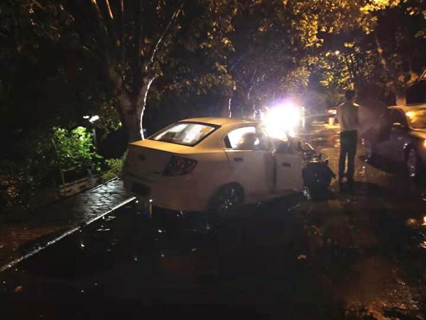车撞树上,有急事司机离开现场,被警方认定为肇事逃逸