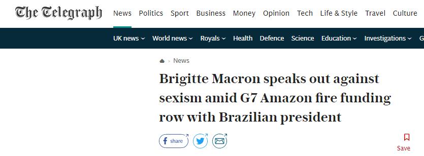 硬刚!遭巴西总统不礼貌讽刺,法国第一夫人首度公开回应