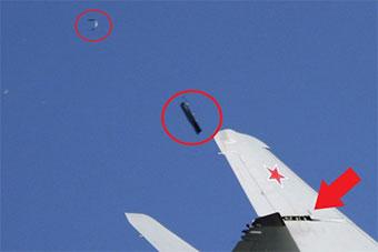 惊险!莫斯科航展米格35空中表演时掉零件