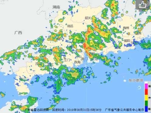 7級大風來襲!廣東南部今日雷雨大風齊光臨