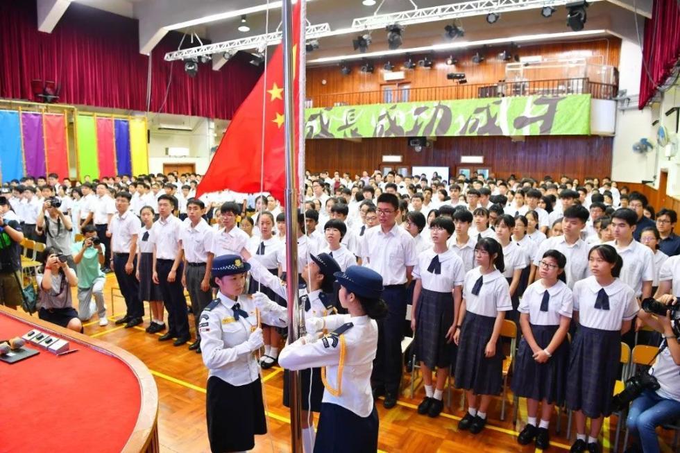 升国旗奏国歌!这才是香港学校该有的样子