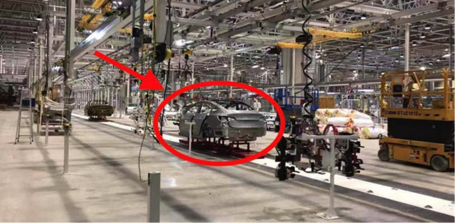特斯拉上海超级工厂内部照曝光 Model 3量产开始量产设置测试