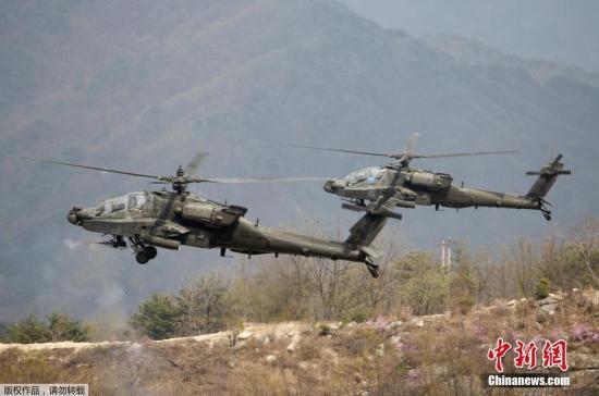 """印度空军列装8架美制""""阿帕奇""""武装直升机"""