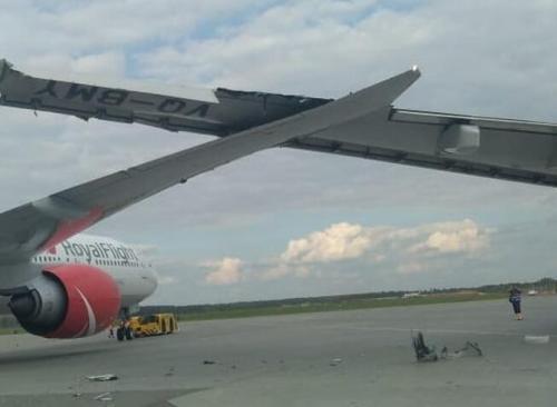 俄航飞北京航班在莫斯科机场跑道发生撞机 无人受伤