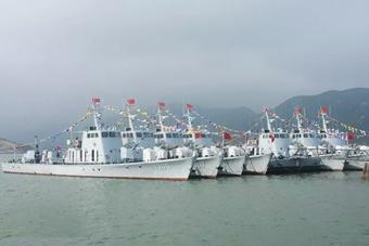 南部战区海军某支队8艘护卫艇集体退出现役