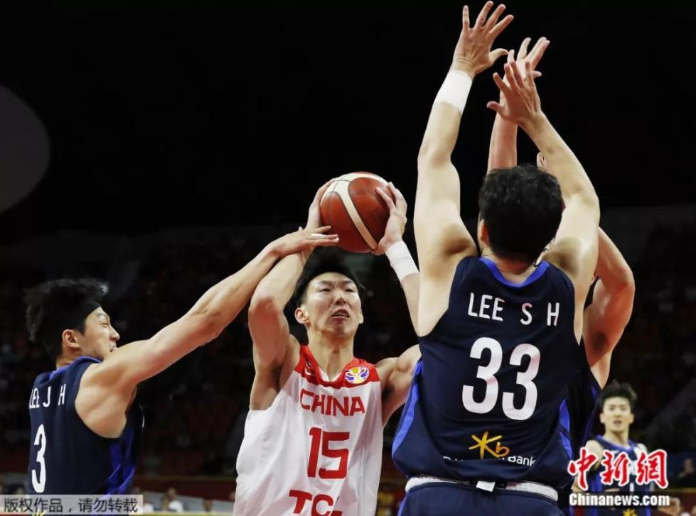 赢了!篮球世界杯排位赛 中国男篮战胜韩国队