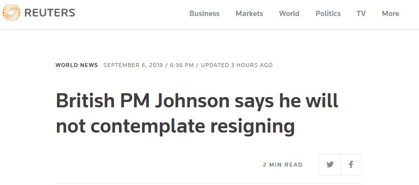 """""""宁愿死在沟里""""的约翰逊又""""改口"""",将前往布鲁塞尔且没有考虑辞职"""