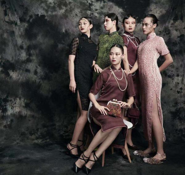 红馆旗袍RED PALACE发布2020春夏系列--穿,探索针法之诗意魅力