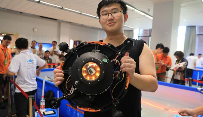 全国大学生水下机器人设计竞技决赛在舟山举行