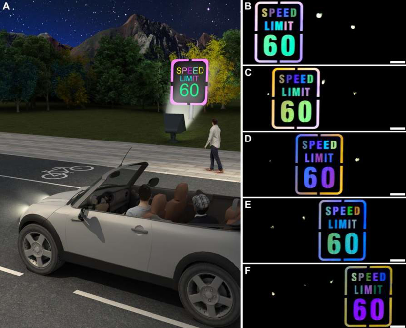 复旦大学合作布法罗大学研发新型材料 可用于制作夜间发光且变色的路标