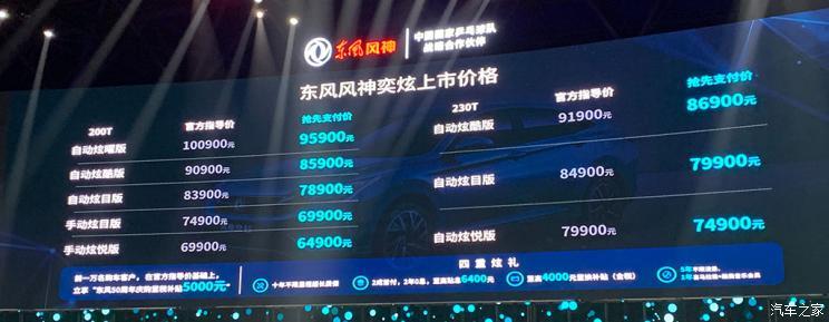 10.09万元 东风风神奕炫上市