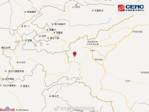 新疆克孜勒苏州阿克陶县发生3.1级地震 震源深度6千米