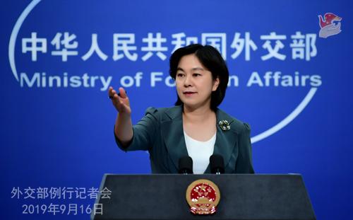 香港示威者求当英国人,华春莹:令人不齿,中国不承认双重国籍