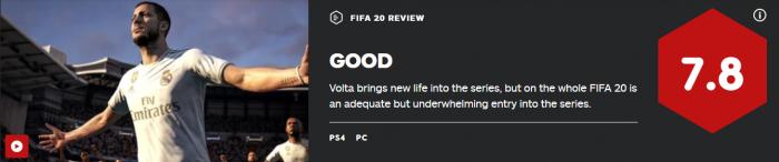 《FIFA20》评分解禁:均分82 街球新模式拯救游戏