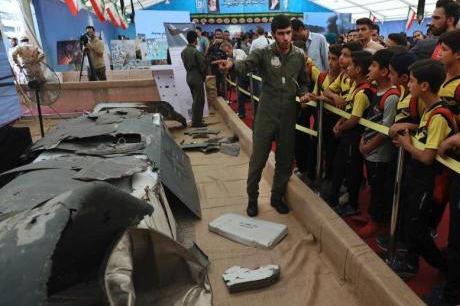 伊朗展出美军无人机残骸