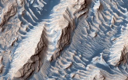 """""""奶油曲奇""""、蓝色地表 火星罕见照片来袭"""