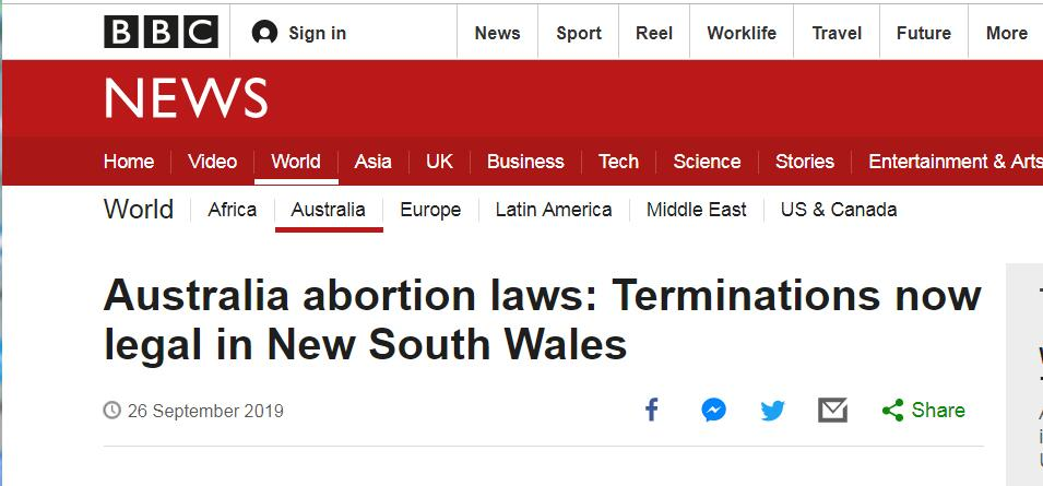 最后一州119年堕胎禁令终结,澳大利亚进入全国堕胎合法时代
