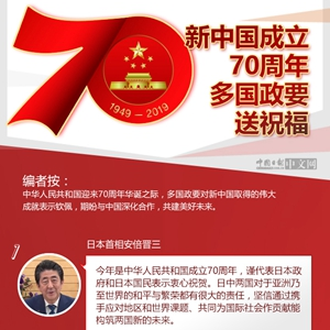 新中国成立70周年 多国政要送祝福