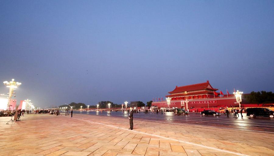 这就是今天早上的北京!