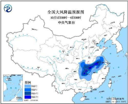 较强冷空气继续影响中东部地区 西南地区多阴雨