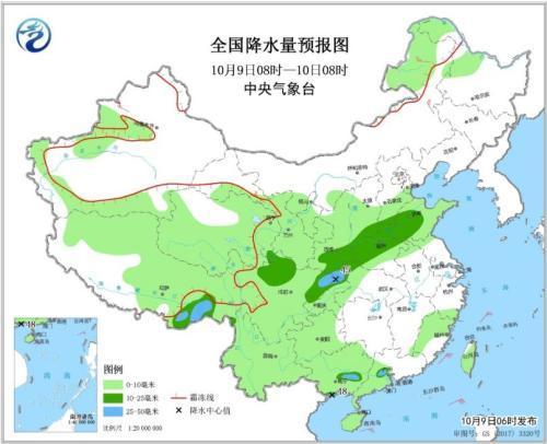 未来三天华西地区多降雨天气 冷空气影响华北东北
