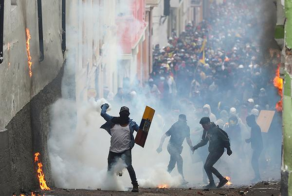 厄瓜多尔首都抗议活动持续,总统莫雷诺表示不会辞职