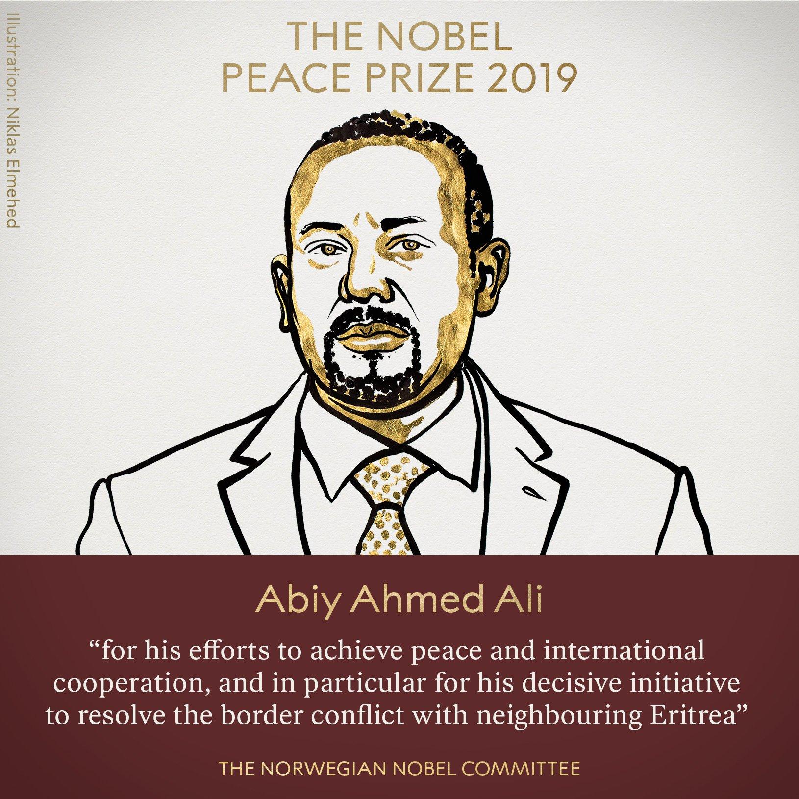 快讯!埃塞俄比亚总理获2019年诺贝尔和平奖
