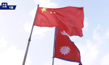 """独家V观丨尼泊尔亮起""""中国红""""欢迎习近平到访"""