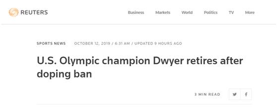 美奥运冠军被禁赛后宣布退役,曾和孙杨多次竞技