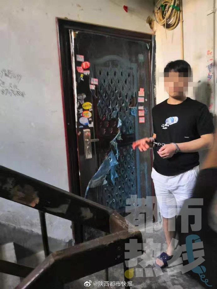 男子白天翻窗连偷两户 留下满地脚印被民警抓获