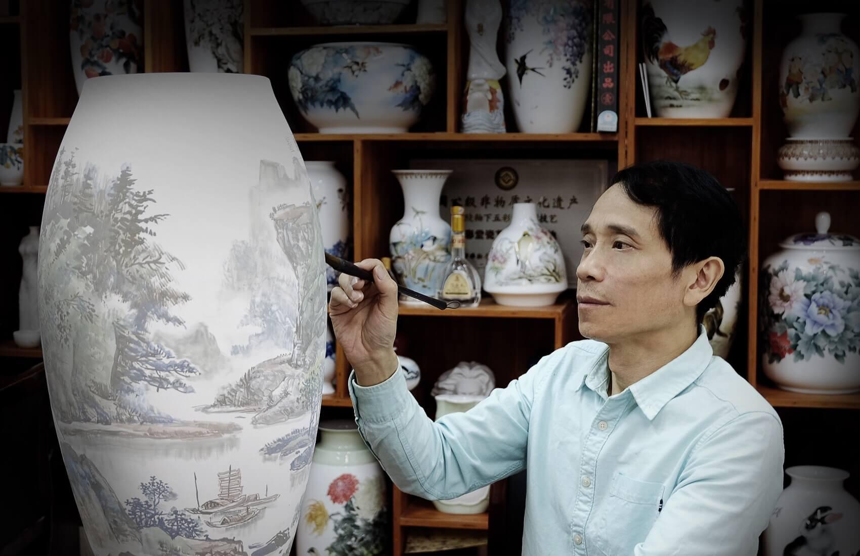 环球艺术人物:巫建平——瓷韵五彩